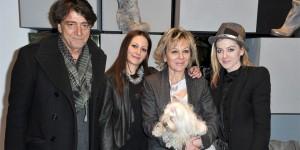 Renato Curzi, Silvia Curzi, Nenella Impiglia e Valentina Curzi all'inaugurazione