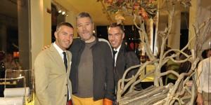 Dean e Dan Caten con Philippe Starck