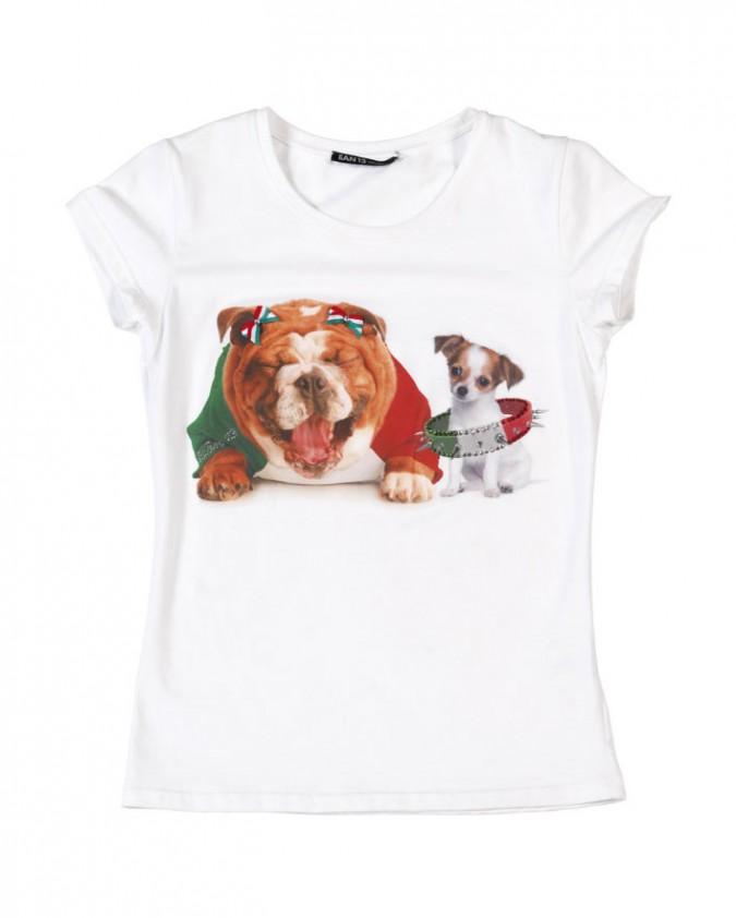 EAN 13-T Shirt Patriottica_Cane Gatto