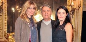 Filippa Lagerback con Massimo e Malita Rebecchi