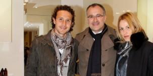 L'amm. delegato A. Martini Atonini tra G. e M. Comotto
