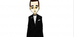 Il bozzetto dell'abito da nozze di Michael Bublé firmato Dsquared²