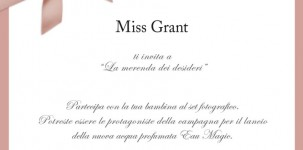 Miss Grant Invito Evento Charity