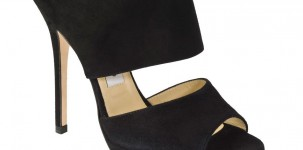 Private black suede by Jimmy Choo