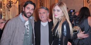 Luca Calvani, Massimo Rebecchi e Chiara Ferragni