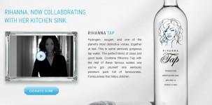 La bottiglia serigrafata dedicata a Rihanna