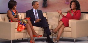 Michelle Obama col marito nello show di Oprah Winfrey