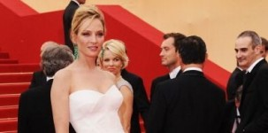 L'attrice Uma Thurman al Festival del Cinema di Cannes 2011