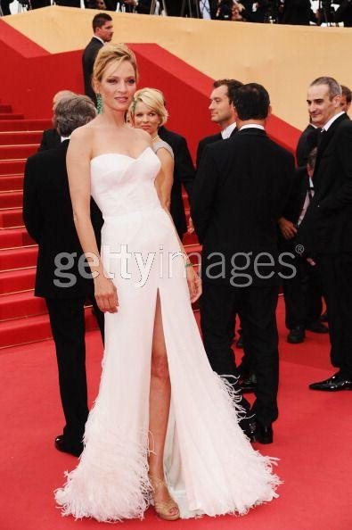 L'attrice Uma Thurman al Festival del Cinema di Cannes 2011