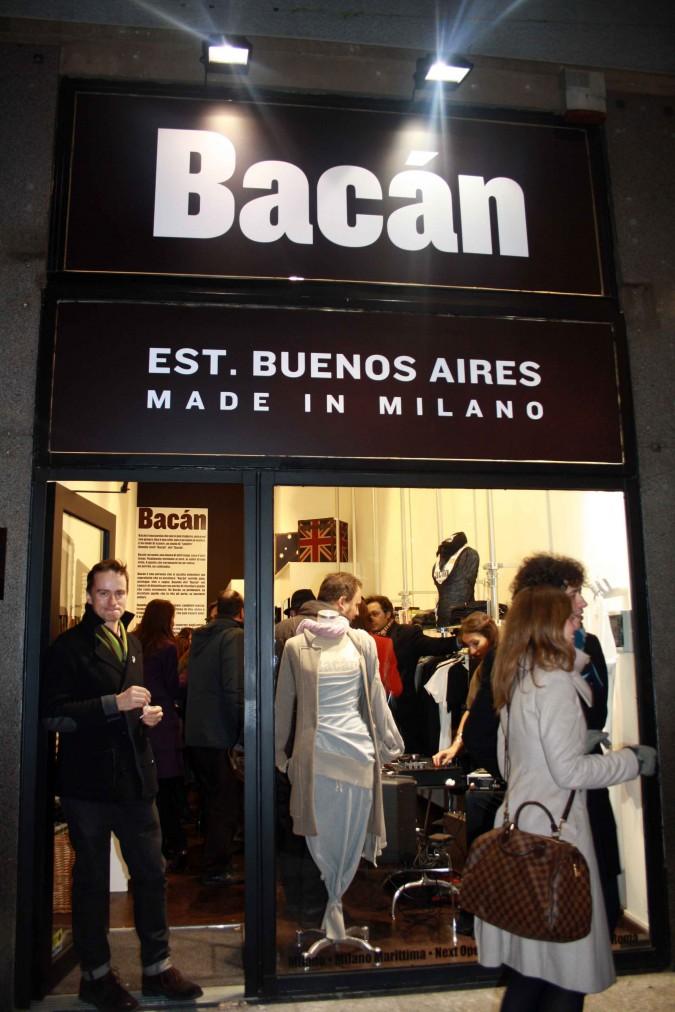 L'ingresso del nuovo negozio Bacan a Milano, in Corso Buenos Aires 14