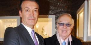 Leo Placuzzi e il Principe Giovannelli all'inaugurazione dello showroom SICIS a Roma