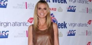 """La top model Heidi Klum ha scelto la scarpa """"Vivienne"""" per presenziare alla cena di gala offerta in occasione della Britweek a Los Angeles"""
