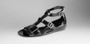 Sandalo in gomma Burberry in stile gladiatore