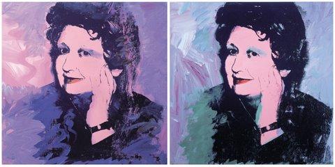 Ileana Sonnabent ritratta da Andy Warhol