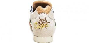 Sneaker Serafini CAPRI: in pelle beige e inserti suede, con