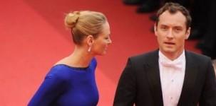 Uma Thurman e Jude Law sul tappeto rosso al Festival di Cannes