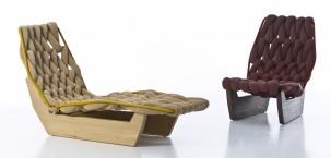 Chaise longue BiKnit by Moroso disegnata da Patricia Urquiola