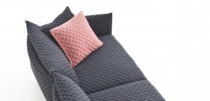 Gentry Sofa con rivestimento maxi tricot