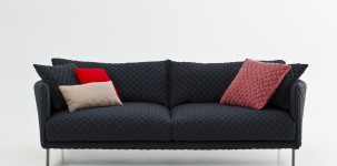 gentry sofa rivestito in maxi tricot by moroso