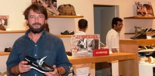 Giovanni Soldini all'inaugurazione del negozio Lumberjack a Milano, in corso Buenos Aires 77