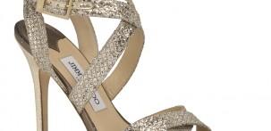 Scarpa Vamp - champagne glitter by Jimmy Choo
