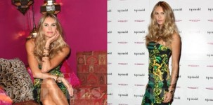 Elle Macpherson indossa il modello Kerfield Black suede by Jimmy Choo
