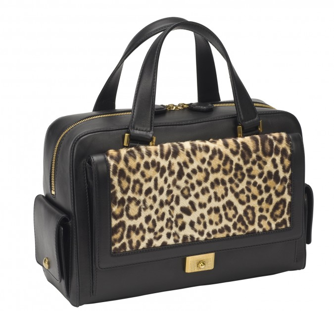 "Borsa ""Catherine"" by Jimmy Choo: blonde soft box long haired leopard print pony"