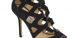 Sandalo Flaxley- Black suede by Jimmy Choo autunno/inverno 2011-12