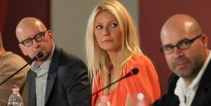 L'attrice Gwyneth Paltrow durante la conferenza stampa (foto ASAC)