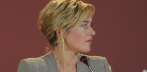 """L'attrice Kate Winslet durante la conferenza stampa del film """"Carnage"""" (foto ASAC)"""