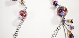 """Antica Murrina: collana lunga """"Duna"""" collezione Glass 2012"""